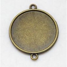 Prívesok kruhové lôžko s 2 očkami