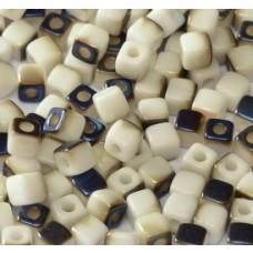 Korálky kocky Modro-biela