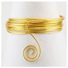Hliníkový drôt Zlatá svetlá - Priemer Ø0,46 - Ø4 mm