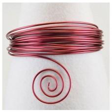 Hliníkový drôt Červená tmavá - Priemer Ø1 - Ø5 mm