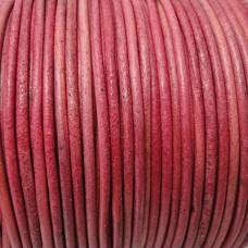 Kožená šnúrka Ružová tmavá
