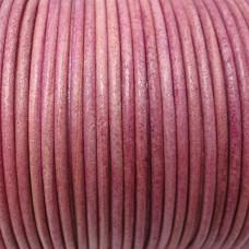 Kožená šnúrka Ružová svetlá