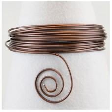 Hliníkový drôt Čokoládová matná - Priemer Ø1 - Ø4 mm