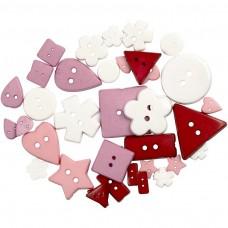 Gombíky plastové Ružové
