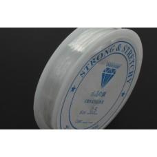 Elastický nylon plochý Priesvitná