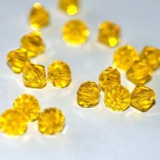 Korálky Bicone Žltá