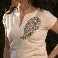 Ručne maľované dámske tričko Kašmír