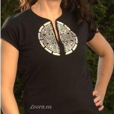 Ručne maľované dámske tričko Znak
