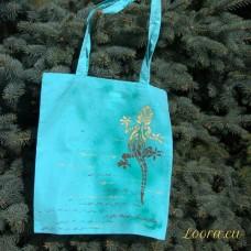 Ručne maľovaná taška Jašterica