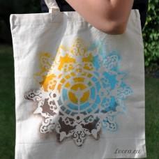 Ručne maľovaná taška Hodiny