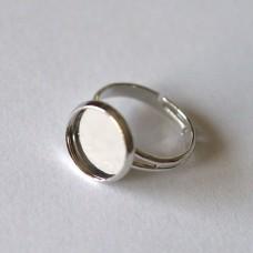 Komponent prsteň s lôžkom Strieborná 12 mm