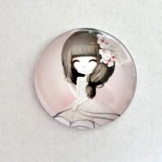Sklenený kabošon Little girl Anastasha