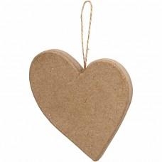 Papierové srdce na zavesenie asymetrické
