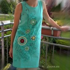 Maľované šaty Na lúke
