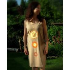 Maľované šaty Zaliate Slnkom