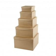 Papierová krabica Štvorec vysoká 5 veľkostí