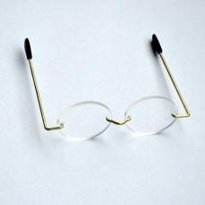 Mini okuliare so sklenenými sklíčkami