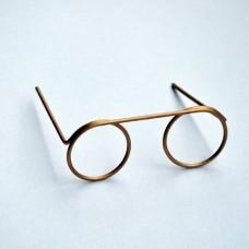 Miniatúrne okuliare Mosadz veľké