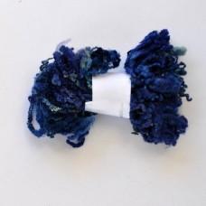 Kučeravá vlna na plstenie Modrá