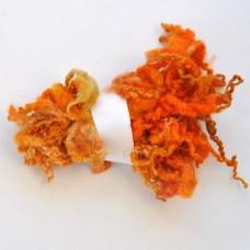 Kučeravá vlna na plstenie Oranžová