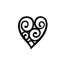 Penová pečiatka Srdce