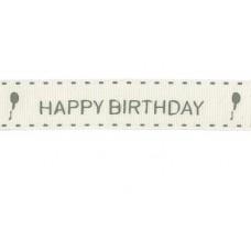 Látková stuha Happy Birthday
