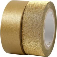 Lepia stuha Washi tape Zlatá a glitrovaná