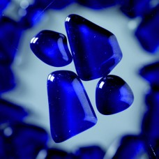 Mozaika Sklenené kamene Modrá