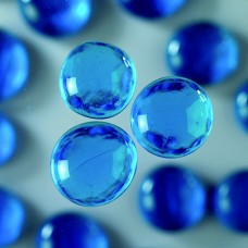 Okrúhle sklenené kamene Modrá svetlá