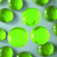 Okrúhle sklenené kamene Zelená svetlá
