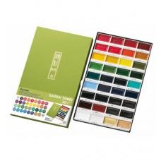 Akvarelové farby Kuretake 36 ks