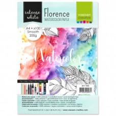 Akvarelový papier Florence Smooth white / Biely hladký A4 200 g/m2 100 ks