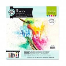 Akvarelový papier Florence Smooth white / Biely hladký 30,5x30,5 cm 300 g/m2 / 50 ks