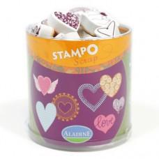 Penové pečiatky Stampo Srdcia