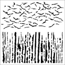 Šablóna Vtáky v poli