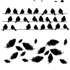Šablóna Vtáky