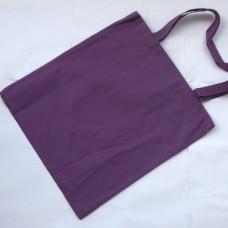 Bavlnená taška s dlhými ušami Baklažánová