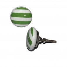 Keramický úchyt na dvere Bielo-zelené pruhy