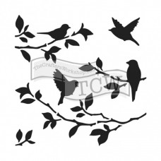 Šablóna TCW Birds on branches