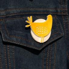Brošňa žltá Sliepočka