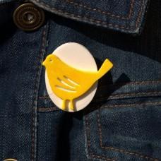 Brošňa žltý Vtáčik