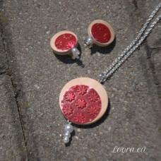 Sada Červené kvietky s perličkou