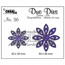 Crealies vyrezávacia šablóna Kvety N°36