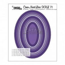 Crea-nest-lies vyrezávacia šablóna Ovál s oblúkmi XXL N°71