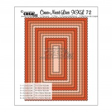 Crea-nest-lies vyrezávacia šablóna Obdĺžniky s oblúkmi XXL N°72
