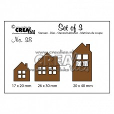 Crealies vyrezávacia šablóna Dedinka N°123