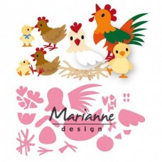 Marianne Design Collectables Chickes family