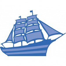Kaisercraft rezacia šablóna Loď