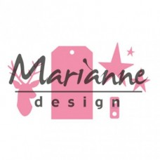 Marianne Design Jeleň, etikety, hviezdy