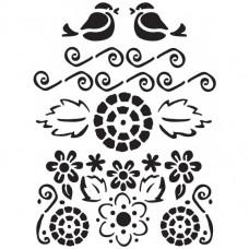 Šablóna folklórna Vtáčiky